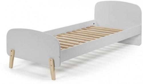 Sivý rám detskej postele z masívneho borovicového dreva Vipack Kiddy, 200×90 cm