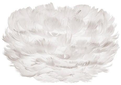 Biele svietidlo z husieho peria VITA Copenhagen EOS, Ø22 cm