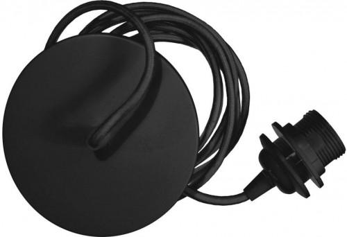 Čierny závesný kábel k svietidlám VITA Copenhagen Rosette, dĺžka 210 cm