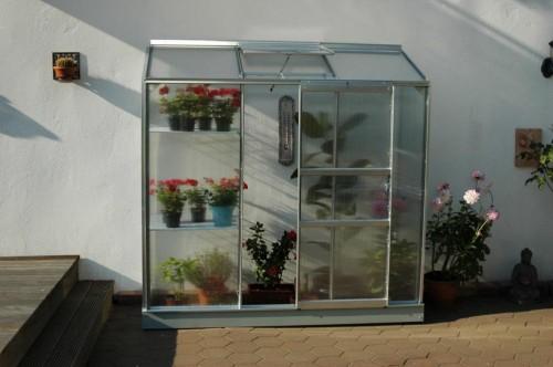 skleník VITAVIA IDA 1300 PC 4 mm strieborný