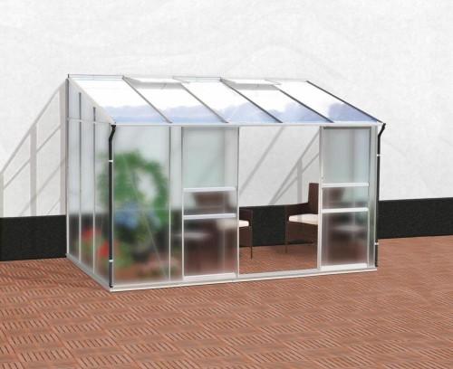 skleník VITAVIA IDA 6500 matné sklo 4 mm + PC 6 mm strieborný