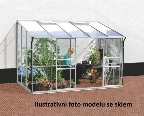 skleník VITAVIA IDA 6500 PC 6 mm strieborný