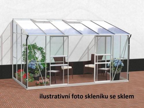skleník VITAVIA IDA 7800 PC 6 mm strieborný