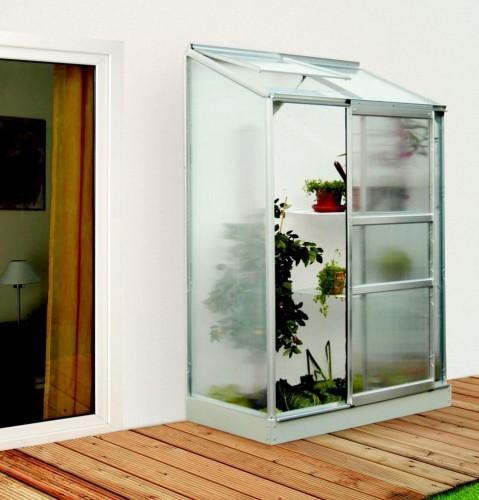 skleník VITAVIA IDA 900 PC 6 mm strieborný