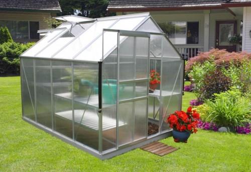 skleník VITAVIA TARGET 5000 PC 4 mm strieborný