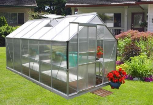 skleník VITAVIA TARGET 7500 PC 4 mm strieborný