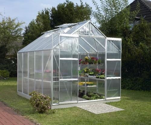 skleník VITAVIA URANUS 8300 PC 6 mm strieborný