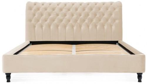 Béžová posteľ z bukového dreva Vivonita Allon, 140 × 200 cm