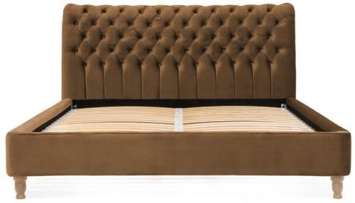 Hnedá posteľ z bukového dreva Vivonita Allon, 140 × 200 cm