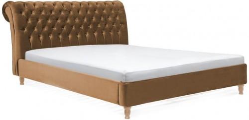 Hnedá posteľ z bukového dreva Vivonita Allon, 180×200cm