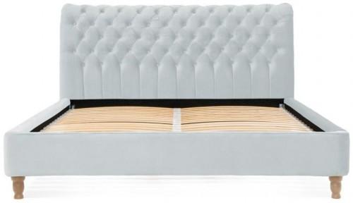 Sivomodrá posteľ z bukového dreva Vivonita Allon, 160 × 200 cm