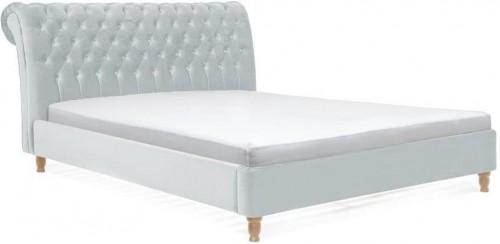 Sivomodrá posteľ z bukového dreva Vivonita Allon, 180×200cm