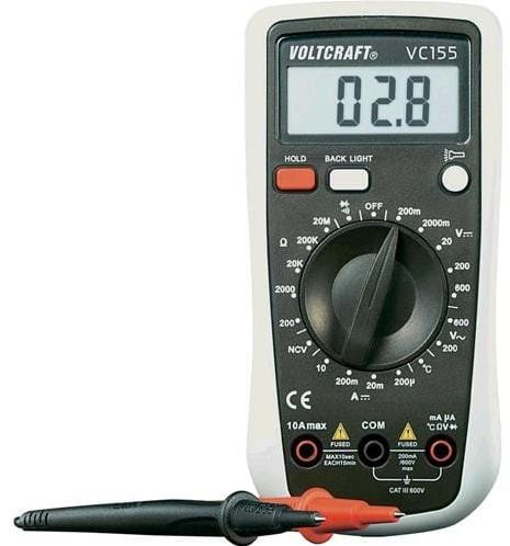 Multimeter Voltcraft VC155 digitálny 124456