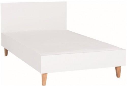 Biela jednolôžková posteľ Vox Concept, 120×200cm