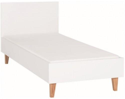 Biela jednolôžková posteľ Vox Concept, 90×200cm