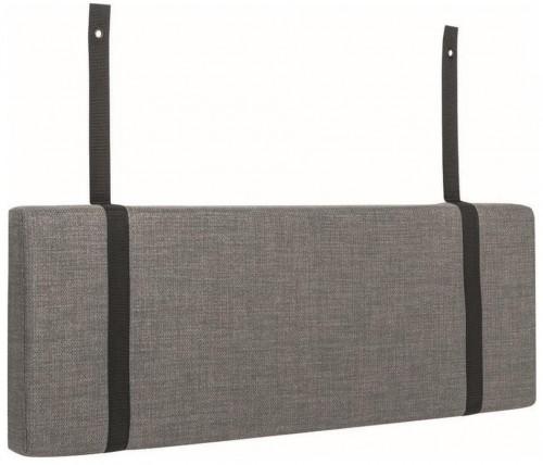 Sivý podhlavník k posteli Vox Concept, 84 cm