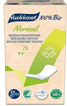 VUOKKOSET 100% BIO Normal slipové vložky 26 ks