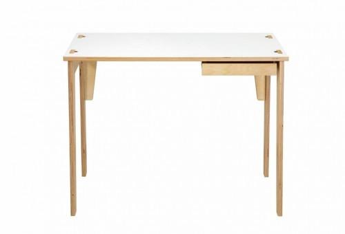 Písací stôl s bielou doskou a zásuvkou We47 Sandra