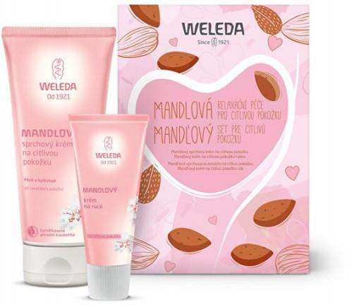 Weleda Mandlová péče pro citlivou pokožku sprchový krém 200 ml + krém na ruce 50 ml darčeková sada