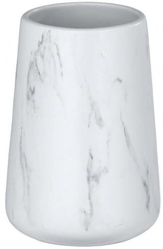Biely keramický téglik na kefky Wenko Adrada