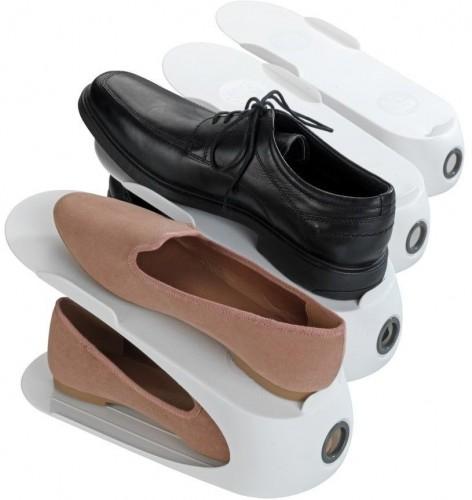 Biely stojan na 4 páry topánok Wenko Smart
