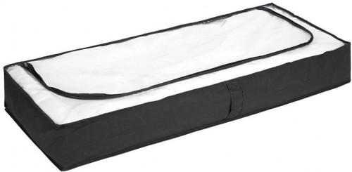 Čierny úložný box pod posteľ Wenko, 105×45cm