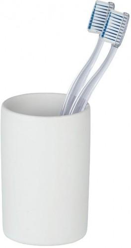 Matne biely keramický téglik na kefky Wenko Polaris