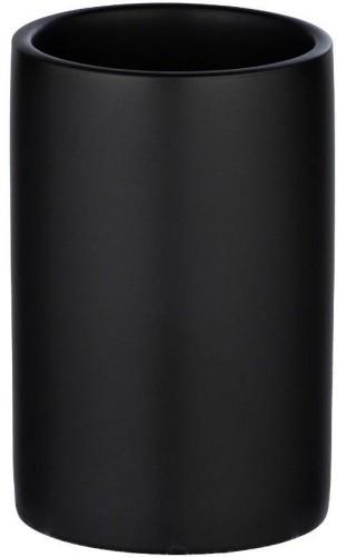 Matne čierny keramický téglik na kefky Wenko Polaris