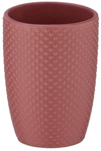 Tehlovočervený keramický téglik na kefky Wenko Punto