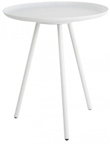 Biely odkladací stolík White Label Frost
