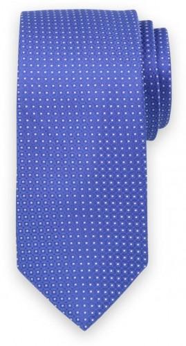 Klasická kravata modrej farby s jemným vzorom 11543