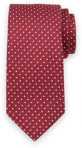 Klasická kravata s bielym bodkovaným vzorom 11546