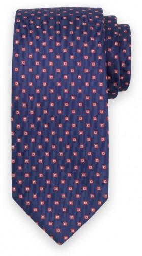 Klasická kravata s jemným červeným vzorom 11541