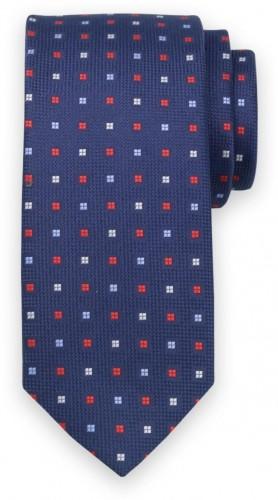 Klasická kravata s jemným kockovaným vzorom 11559