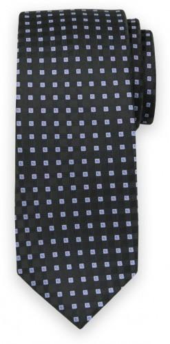 Klasická kravata s modrým kockovaným vzorom 11564