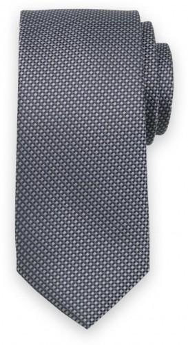 Klasická kravata sivej farby so vzorom 11542