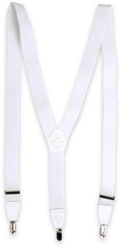 Pánske traky bielej farby 11284