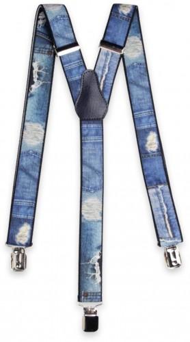 Pánske traky s džínsovým vzorom 11294