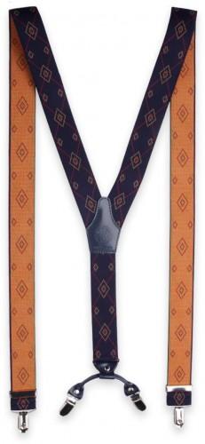 Pánske traky s geometrickým vzorom 11285