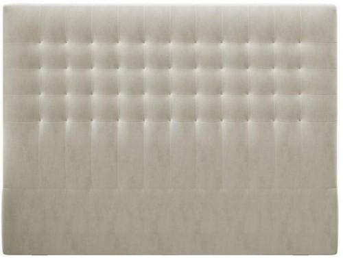 Béžové čelo postele so zamatovým poťahom Windsor & Co Sofas Apollo, 200×120 cm
