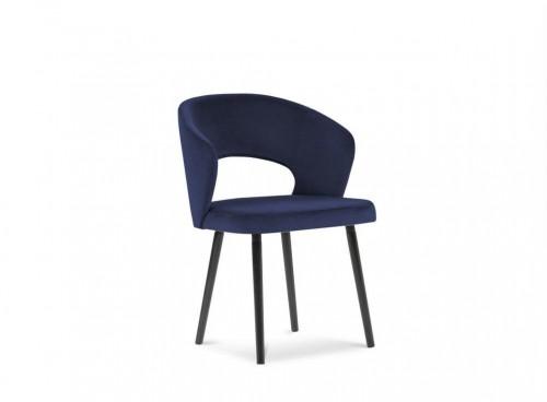 Kráľovskymodrá jedálenská stolička so zamatovým poťahom Windsor & Co Sofas Elpis