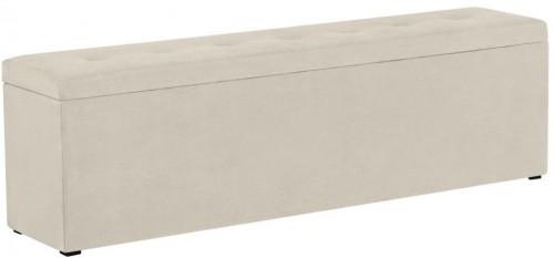 Krémová leňoška s úložným priestorom Windsor & Co Sofas Astro, 180×47 cm