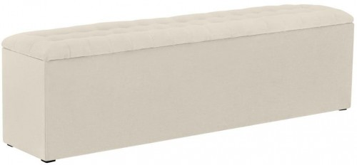 Krémovobiela leňoška s úložným priestorom Windsor & Co Sofas Nova, 140×47 cm
