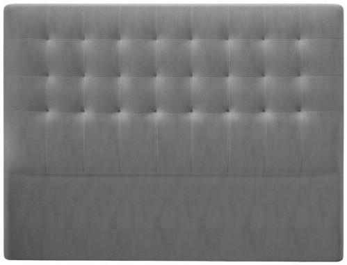 Sivé čelo postele so zamatovým poťahom Windsor & Co Sofas Athena, 180×120 cm