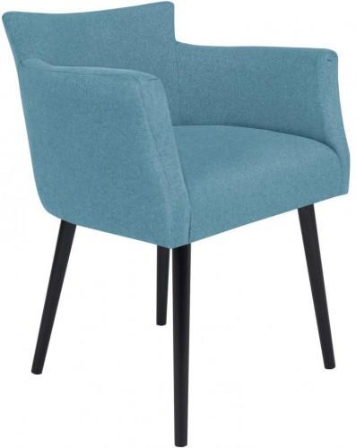 Svetlomodrá stolička s opierkami Windsor & Co Sofas Gemini