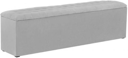 Svetlosivá leňoška s úložným priestorom Windsor & Co Sofas Nova, 180×47 cm