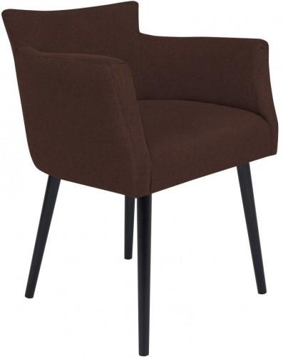 Tmavohnedá stolička s opierkami Windsor & Co Sofas Gemini