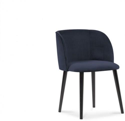 Tmavomodrá jedálenská stolička so zamatovým poťahom Windsor & Co Sofas Aurora