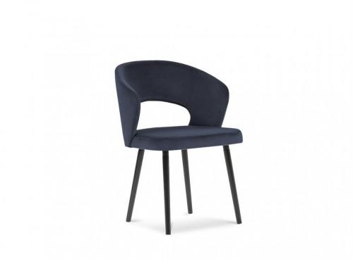Tmavomodrá jedálenská stolička so zamatovým poťahom Windsor & Co Sofas Elpis