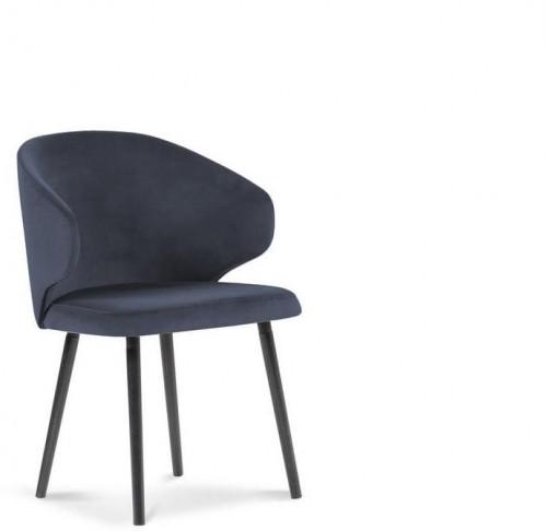 Tmavomodrá jedálenská stolička so zamatovým poťahom Windsor & Co Sofas Nemesis